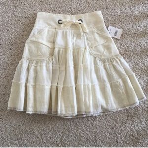 NWT, Free People Adorable Ivory Layered Skirt!